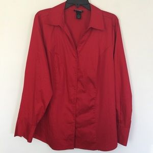 Lane Bryant Button Down Classic Stretch Shirt 18